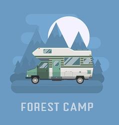 Camper traveler Truck on National Mountain Park vector image