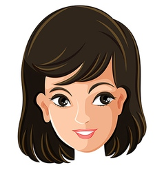 A females face vector image vector image