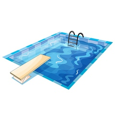 a swiming pool vector image vector image