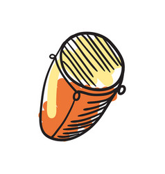 African djembe drum hand drawn icon vector