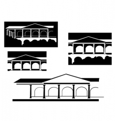 ancient building vector image vector image