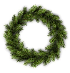 Card with green wreath vector