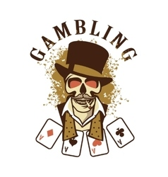 Casino retro logo on a white background vector image vector image