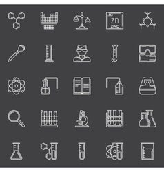 Chemistry and science icons vector image vector image