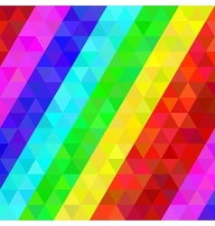Colorful geometric pattern in rainbow colors vector