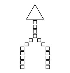 Combine arrow up contour icon vector