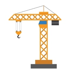 Construction crane in a flat style vector