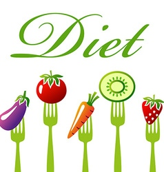 DietFruits vector image vector image