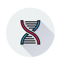 dna icon on round background vector image