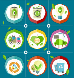 ecologically save energy devices vector image