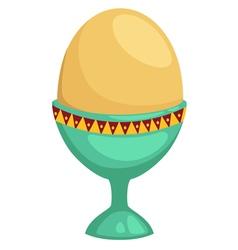 Egg isolated on white background vector