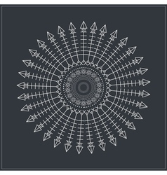 Geometric linear circule logotypes64954 vector