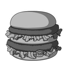 Hamburger single icon in monochrome style vector