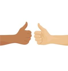 Hands showing okay sign vector