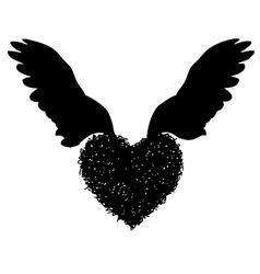 Heart wing 01 vector