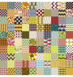 Hundred seamless patterns vector