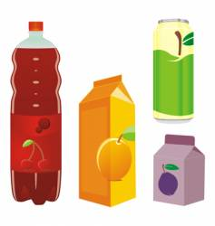 juice containers vector image vector image