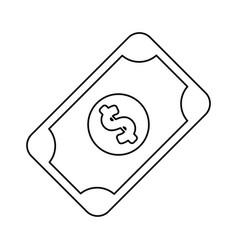 Line bill cash money to buy vector