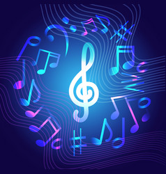 Notes music concert banner colorful modern musical vector