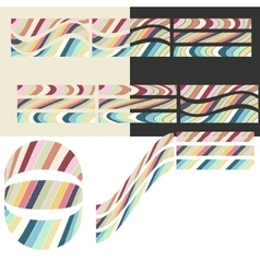 Paper colored mosaic vector
