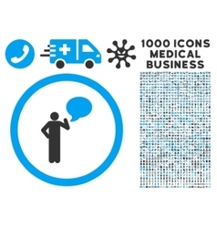 Person Idea Rounded Icon With Medical Bonus vector image vector image