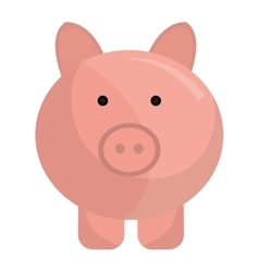 Piggy money saving icon flat design vector image