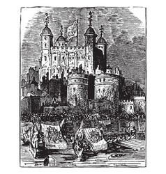 Procession to the tower of london vintage vector