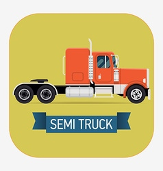 Semi truck icon vector