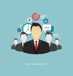 team management flat vector image vector image