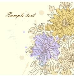 Vintage retro flower blossom vector image vector image