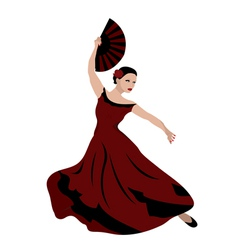 woman dancing flamenco vector image