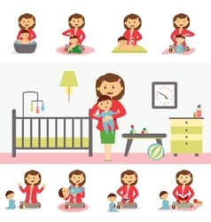Motherhood concept in flat design vector