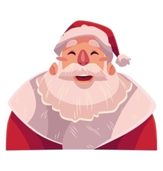 Santa claus face laughing facial expression vector