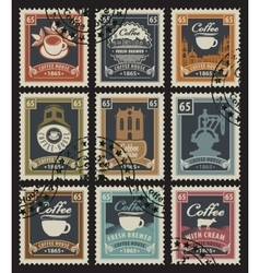 stamps for coffee houses vector image