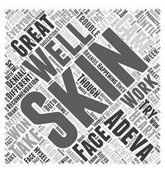 Adeva skin care word cloud concept vector