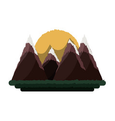 Beautiful mountains landscape vector