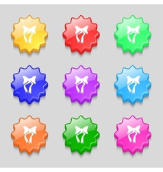 Graphical decorative bows set colourful buttons vector