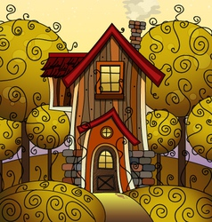 Autumn home 01 vector