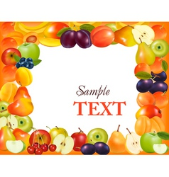 sweet fruit background vector image