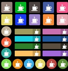 Coffee icon sign set from twenty seven vector