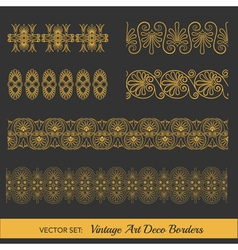 Set of vintage borders - in art deco style vector