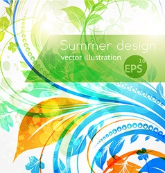 Bright floral background vector
