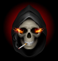 Smoking kills skull death 02 vector