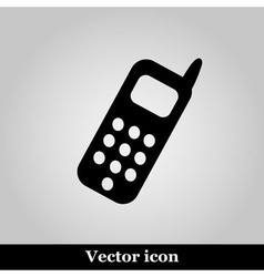 Smartphone icon on grey background vector