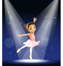Ballerina stage performance vector
