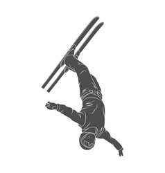 a jumping skier freestyler vector image