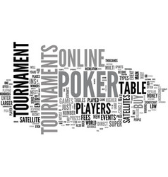 A look at online poker tournaments text word vector