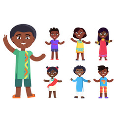 African children boys and girls isolated vector