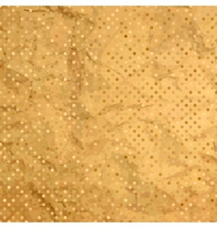 Aged and worn paper with polka dots EPS 8 vector image