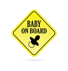 Baby on board rhombus vector